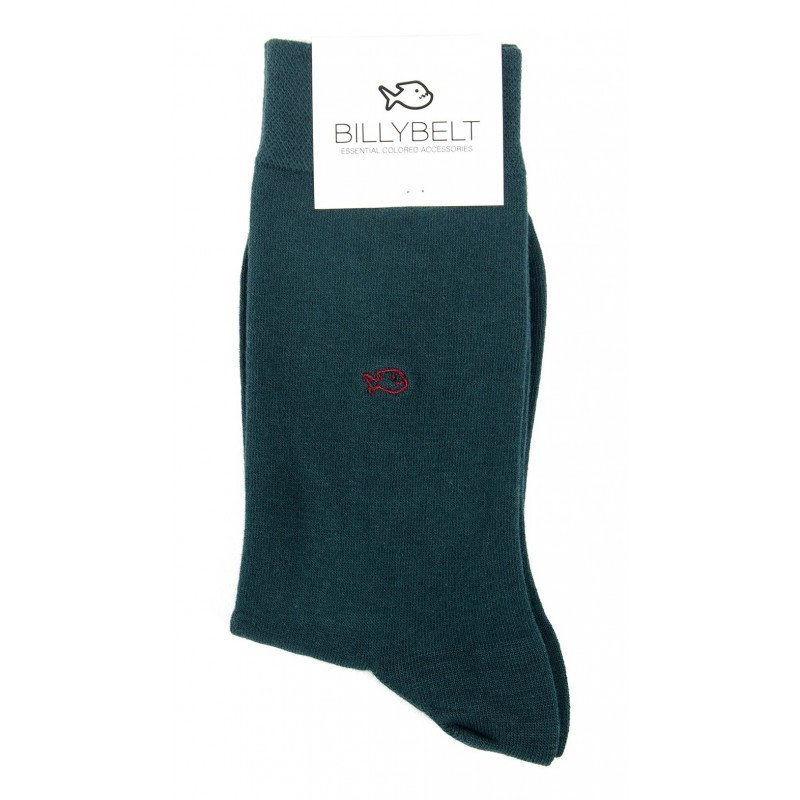 Men green cotton socks