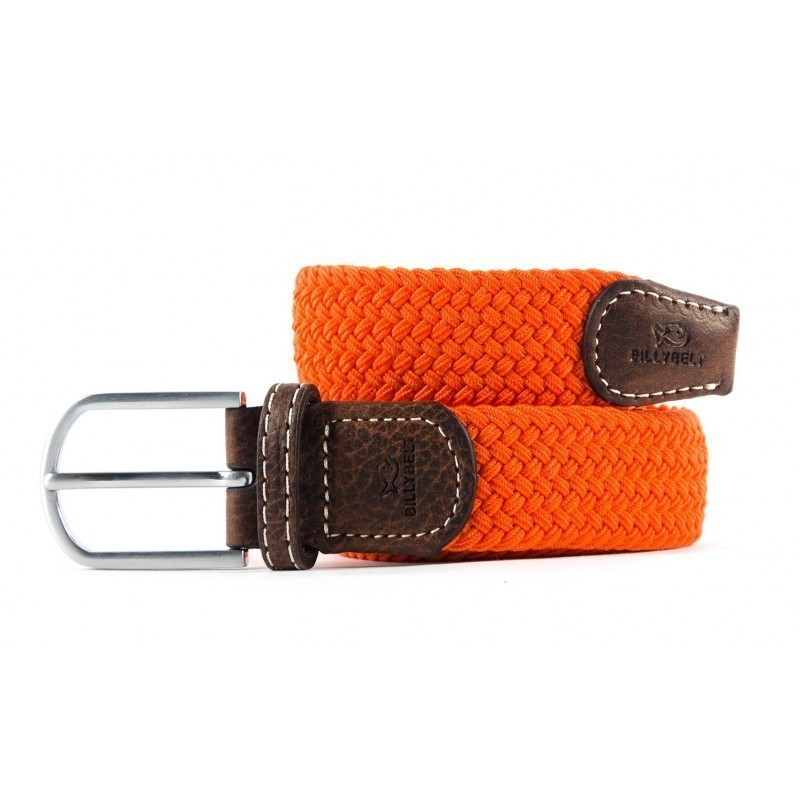 Apricot Orange braided belt for men