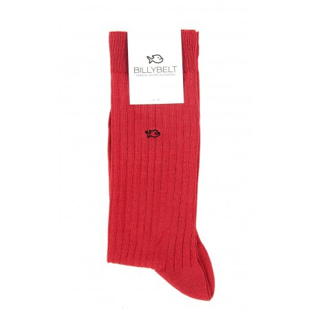 Chaussettes fil d'Écosse Rouge Grenade