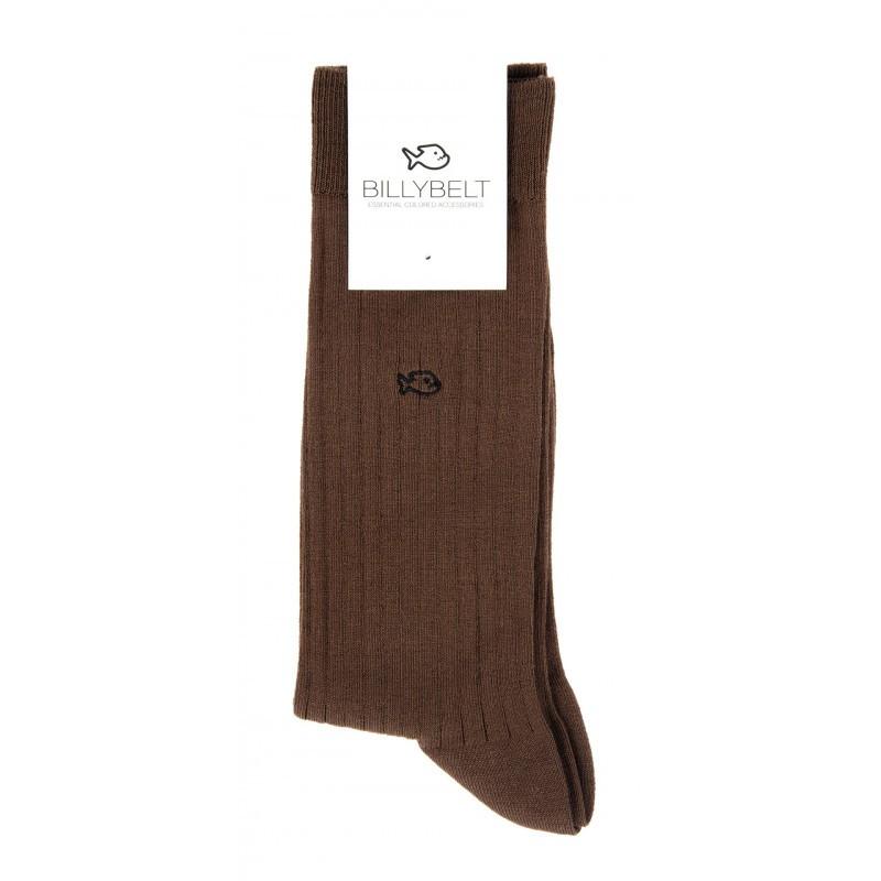 FE5 Chestnut Brown Lisle Socks Men