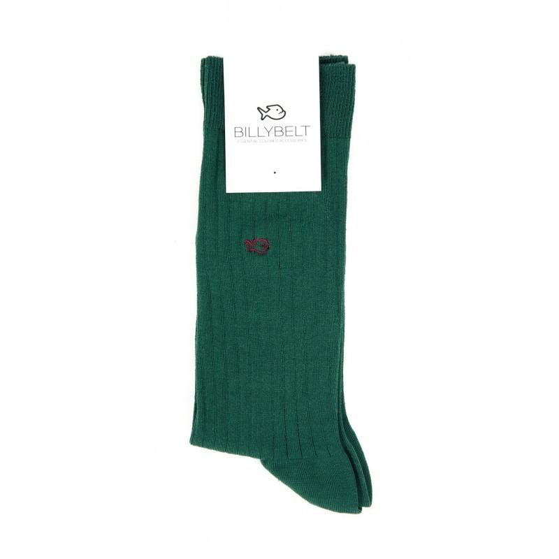Green Lisle Socks Men
