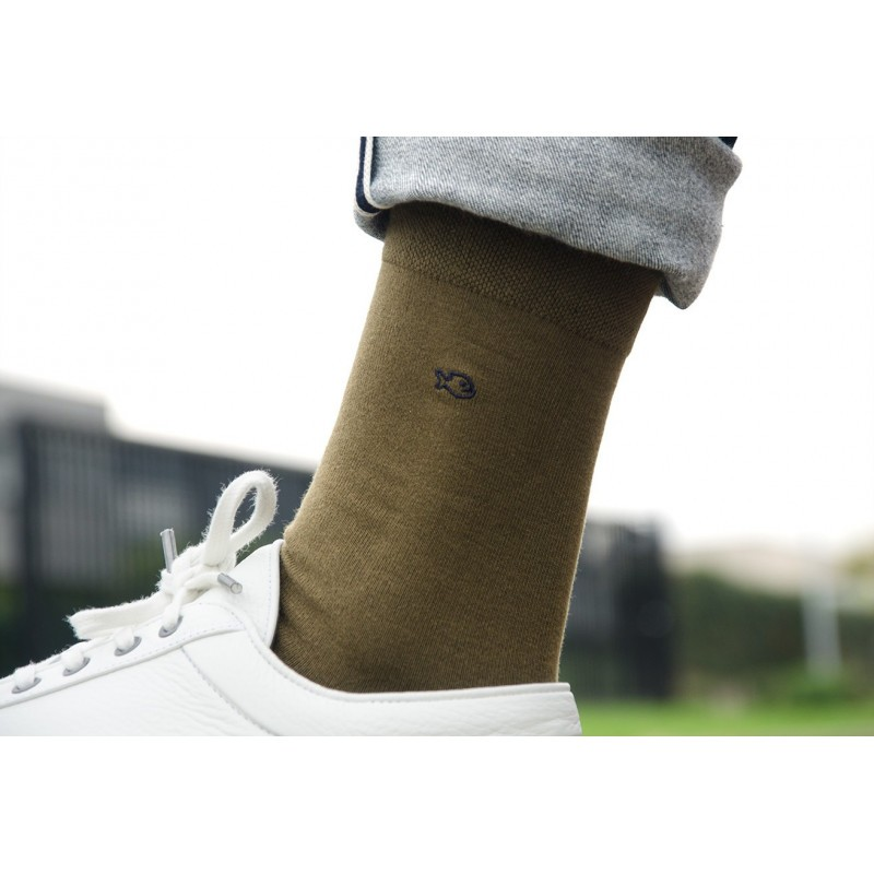 Cotton socks  Khaki Green