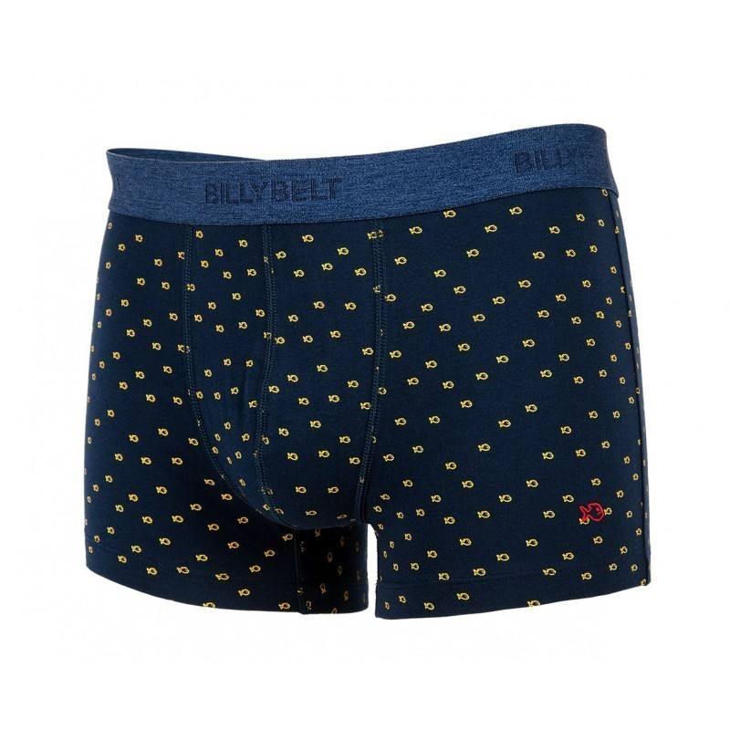 Boxer brief in organic cotton Blue Yellow