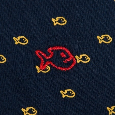 Boxer en coton biologique Blue Yellow