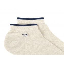 Socquettes coton  Beige Chiné