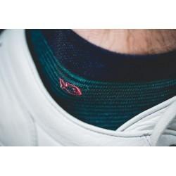 Socquettes coton  Rayée Verte