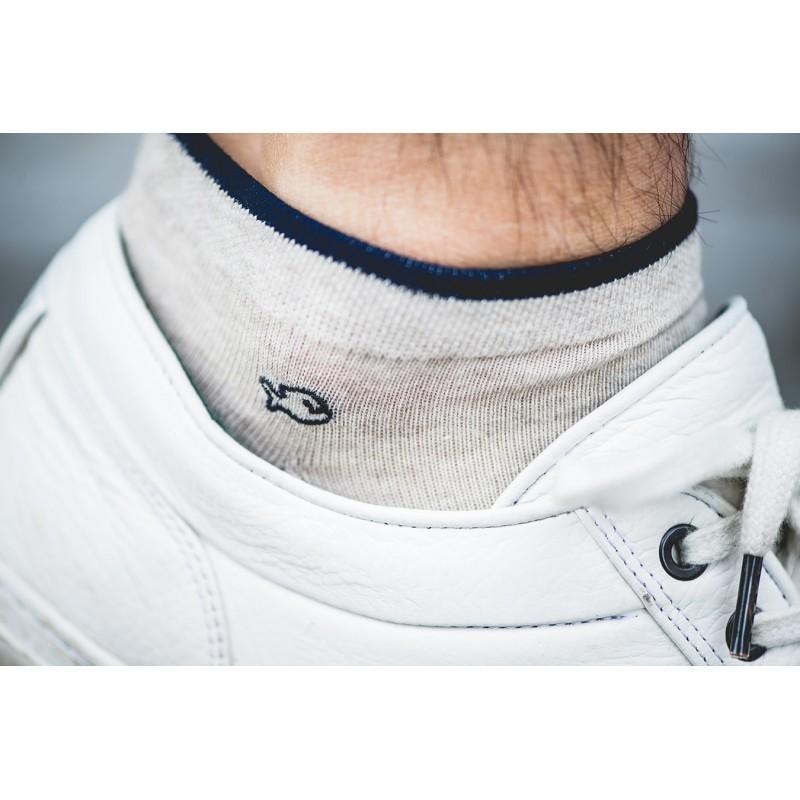 Cotton ankle socks  Mottled Beige