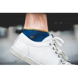 Socquettes coton   Bleu Canard