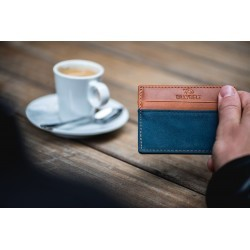 Porte-cartes Slim Bleu canard homme