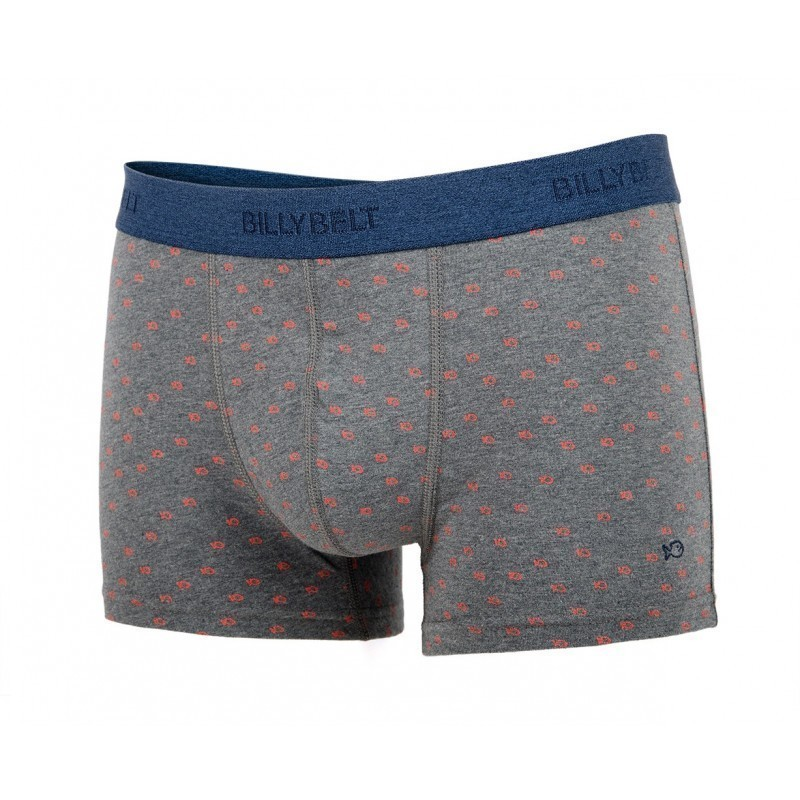 Boxer en coton biologique Grey Orange
