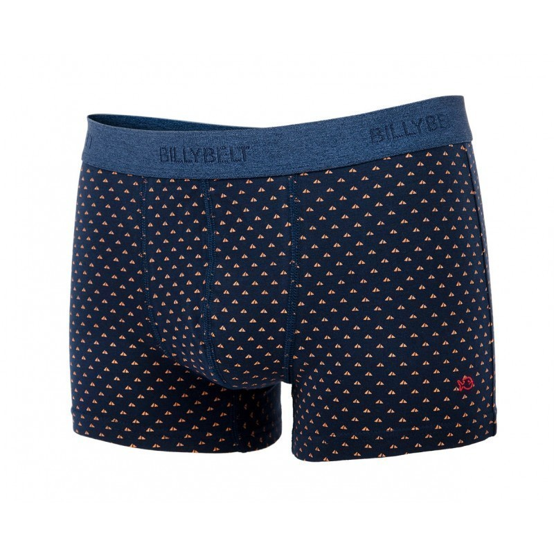 Boxer brief in organic cotton Navy Sail