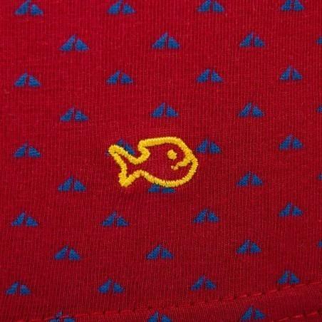 Boxer en coton biologique Red Sail