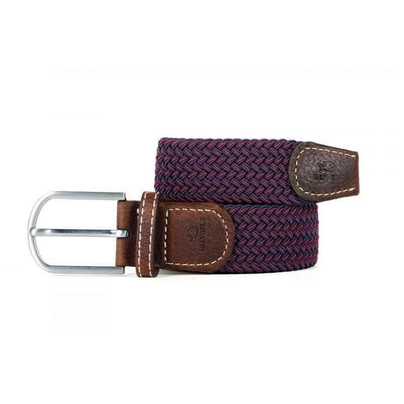 woven elastic belt burgundy