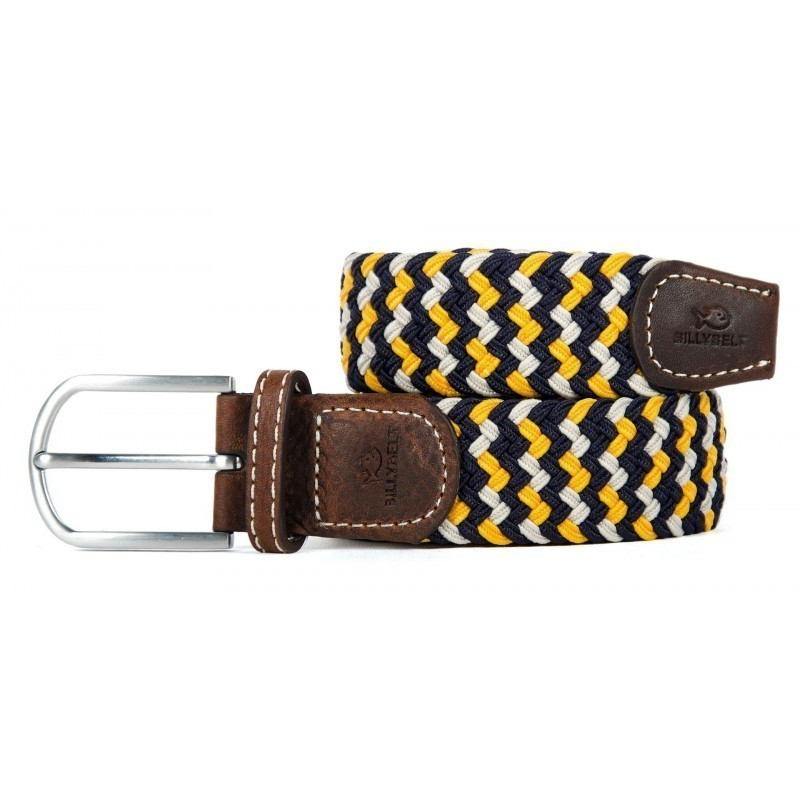 woven belt with an elastic braid