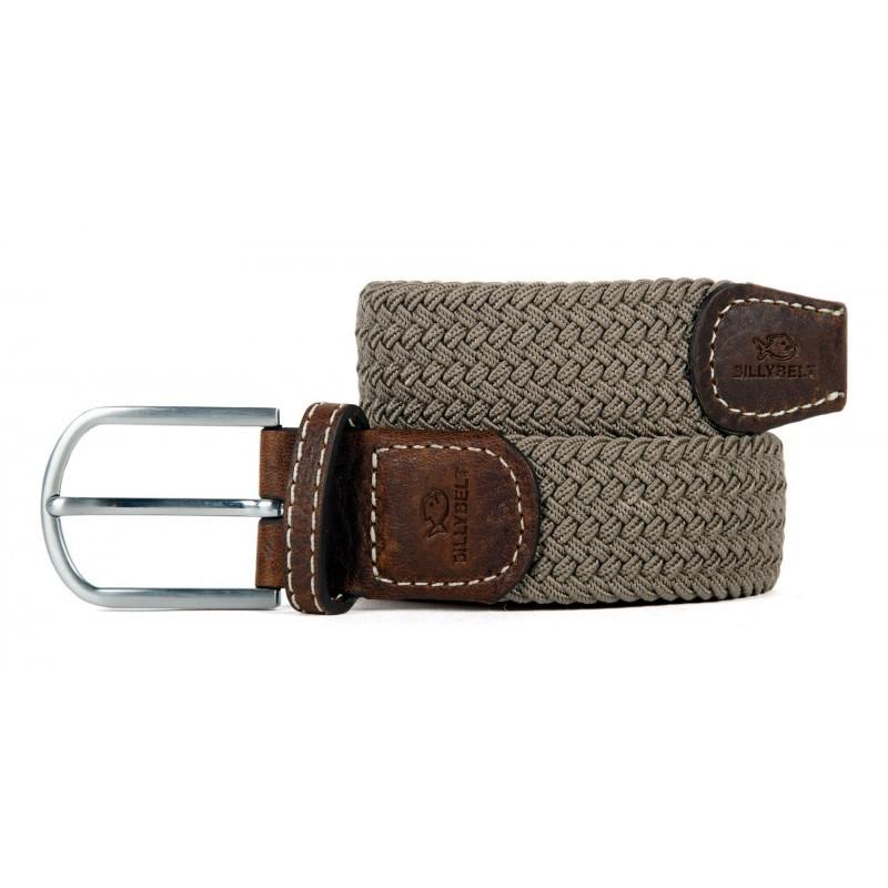 Taupe Beige braided belt for men