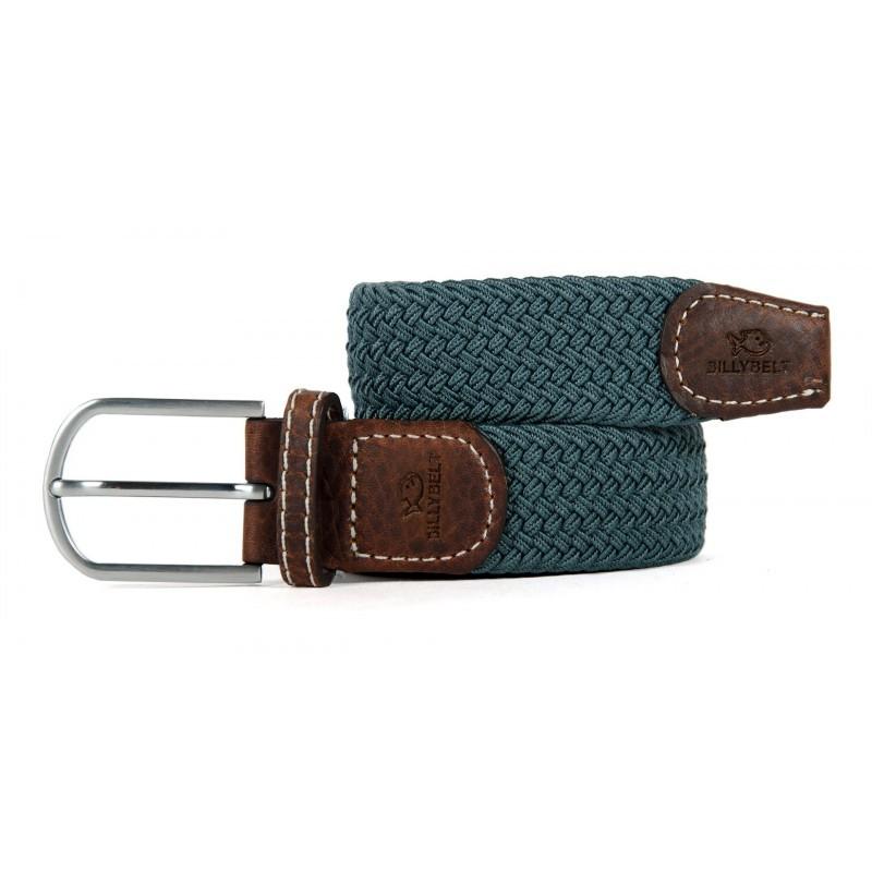 Navy Grey braided belt for men
