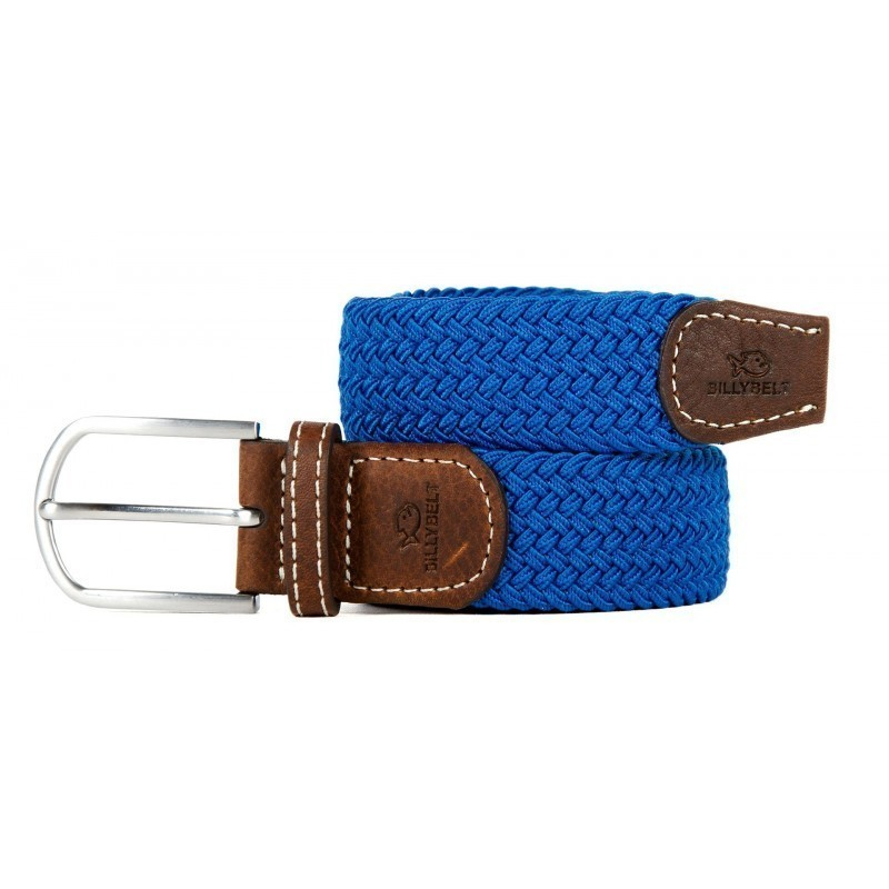 Azure Blue braided belt for men