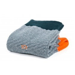 Chaussettes coton  Rayée Verte