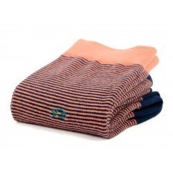 Cotton socks  Striped Coral