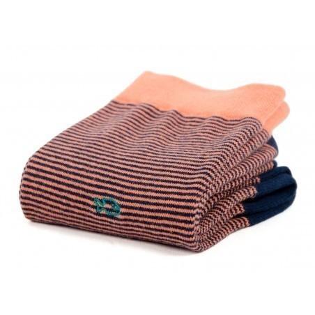 Chaussettes Rayées Corail