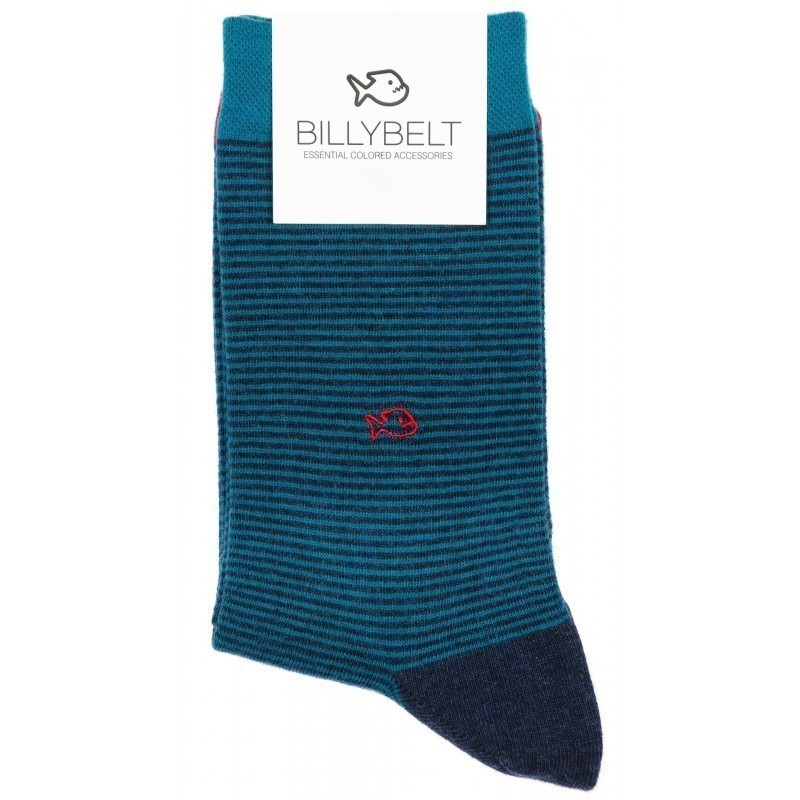 Chaussettes Rayées Bleu