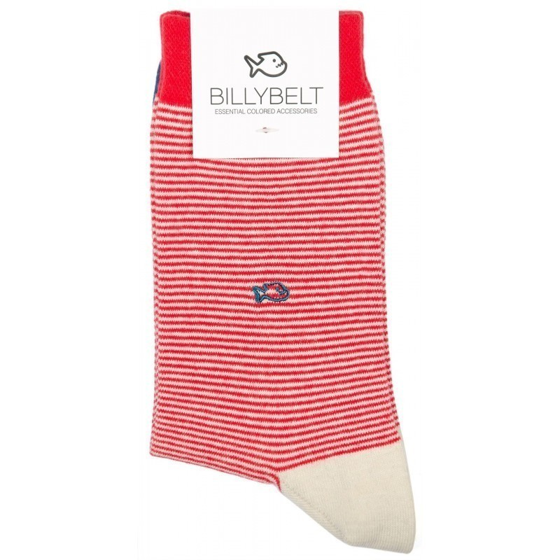 Chaussettes Rayées Rouge