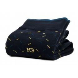 Chaussettes coton  Pimentée Marine