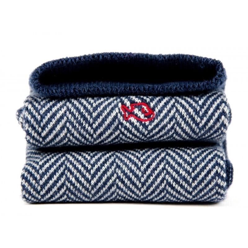 Men Socks Navy Herringbone