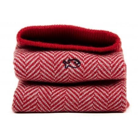 Chaussettes Chevron Rouge