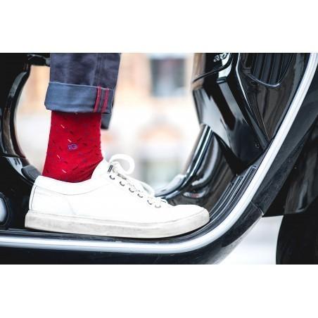 Chaussettes Pimentées Rouge