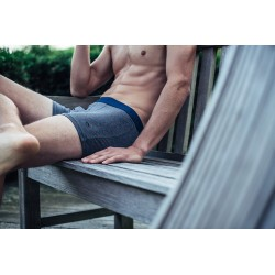 Organic cotton boxer briefs  Grey Orange
