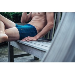 Organic cotton boxer briefs  Blue Snow