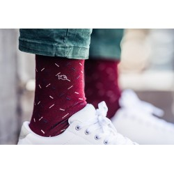 Men Socks Burgundy Spicy