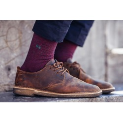 Cotton socks  Burgundy Herringbone