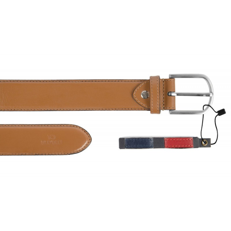 Camel leather belt with interchangeable belts loops