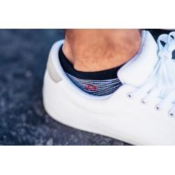 Socquettes coton  Rayée Blanche