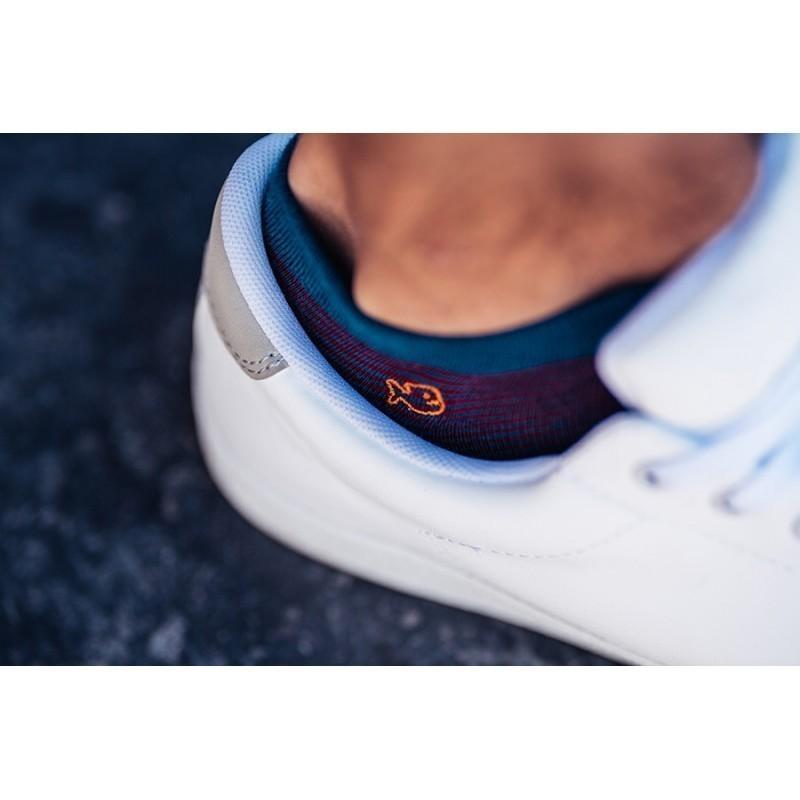 Cotton ankle socks  Burgundy Stripe