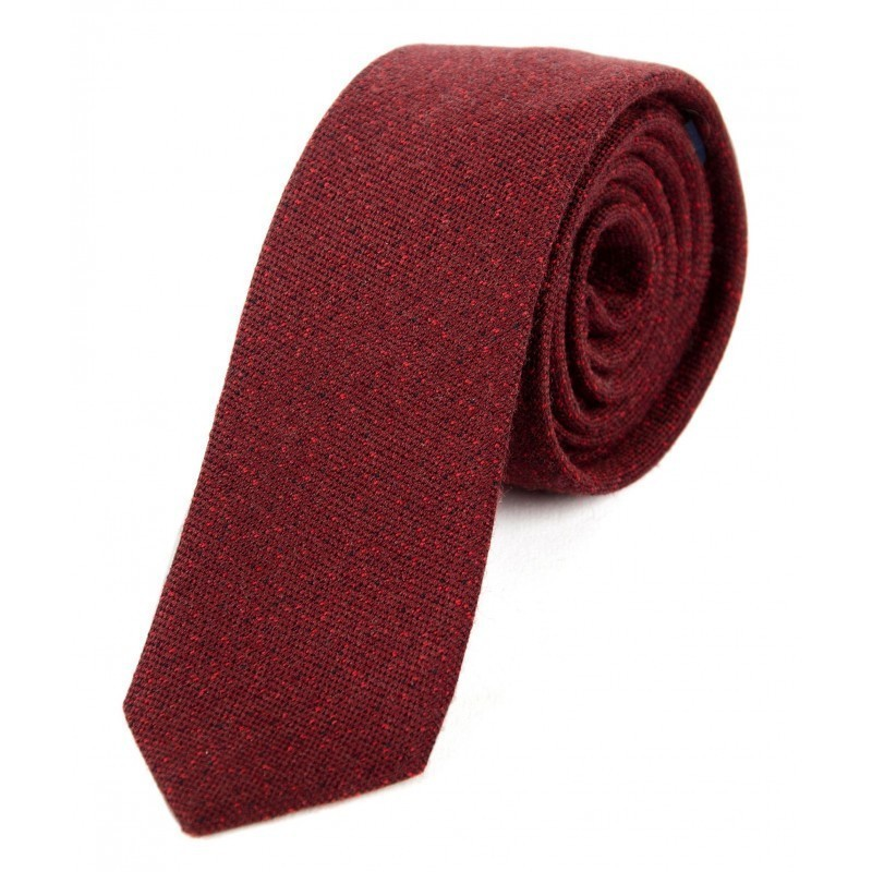 Burgundy and red wool tie