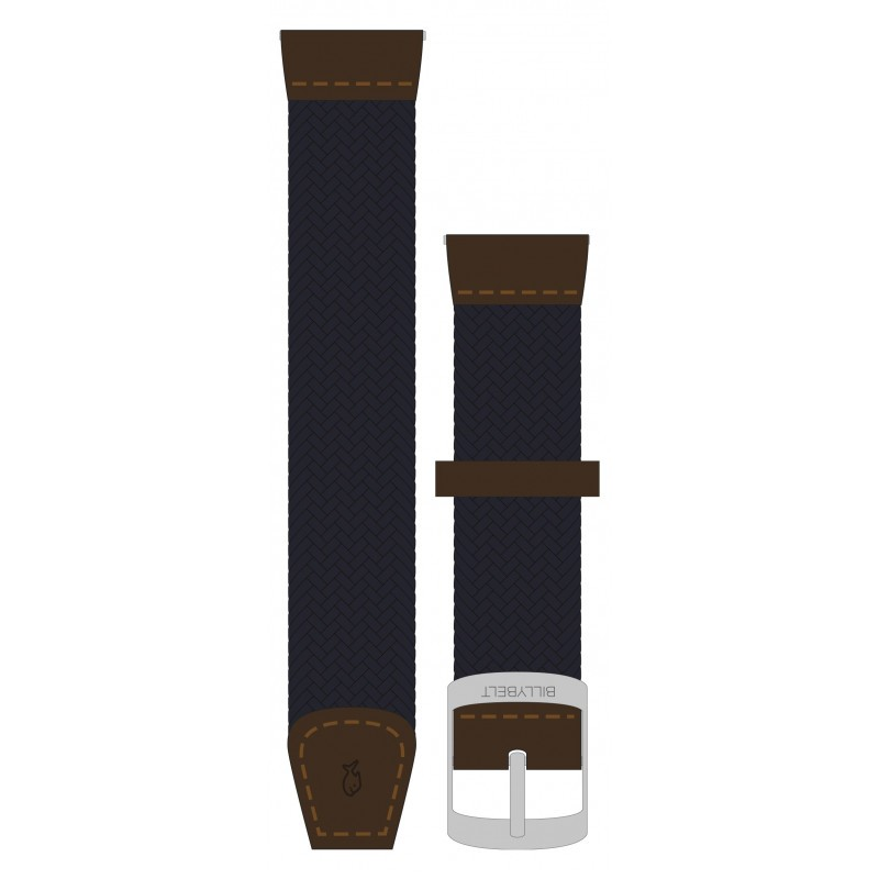 Navy Blue woven elastic watch strap