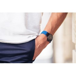 Woven watch strap  Azure Blue