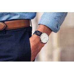 Oslo woven elastic watch strap