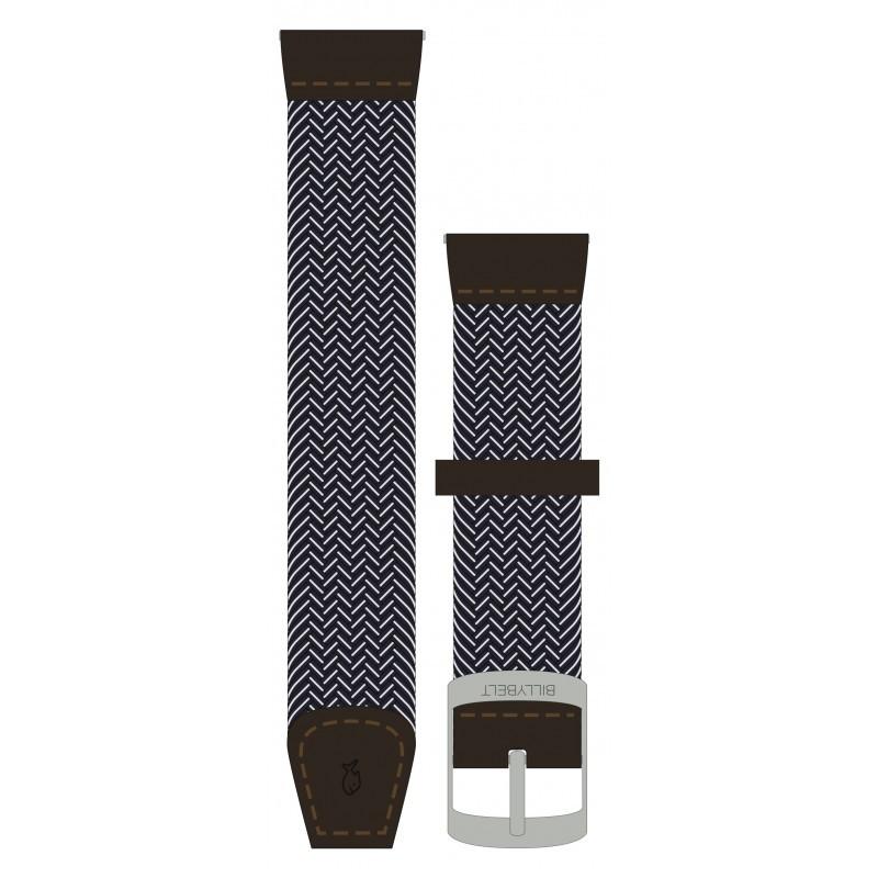 Azure Blue woven elastic watch strap