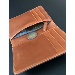Card Holder with zipped pocket  Sand