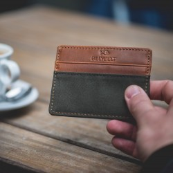 Slim Card Holder  Khaki