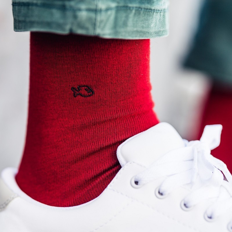 Chaussettes coton  Rouge Grenade