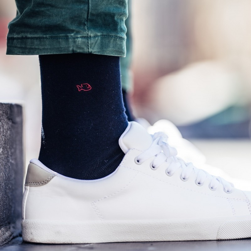 Cotton socks   Navy Blue