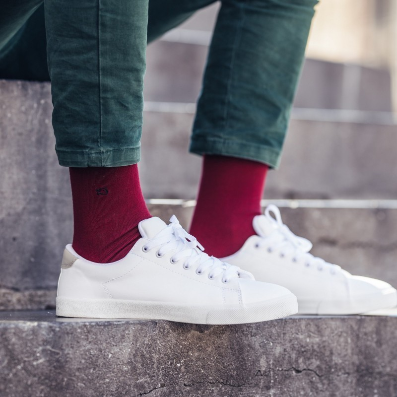 Cotton Socks  Burgundy