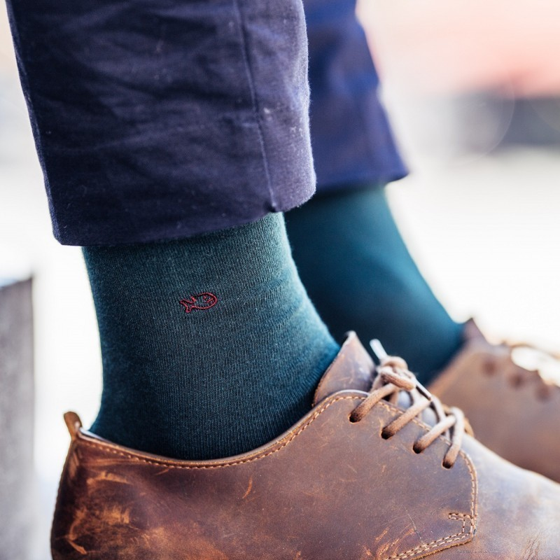 Cotton socks   UK Green