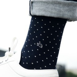 Cotton socks   Navy Square