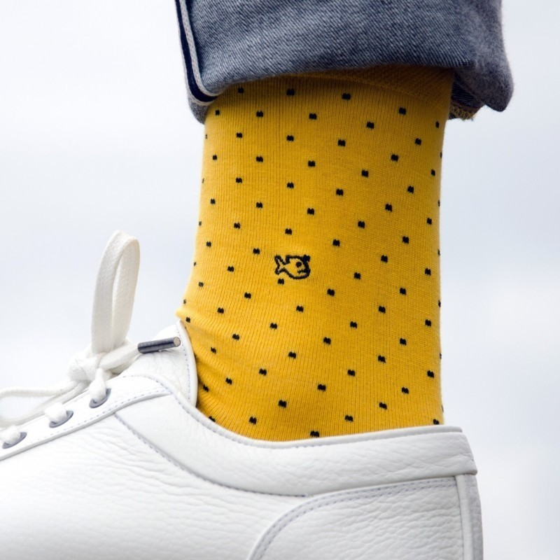 Cotton socks  Yellow Square